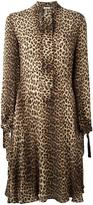 P.A.R.O.S.H. leopard print shirt dress - women - Silk - S