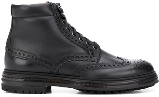 Santoni Perforated Ankle Boots