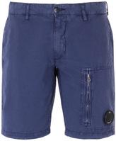Cp Company Cargo Bermuda Washed Blue Watchviewer Shorts