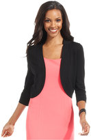 Jessica Howard Petite Sweater, Three-Quarter-Sleeve Cardigan