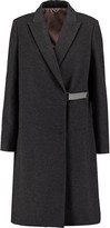 Brunello Cucinelli Embellished wool and cashmere-blend coat