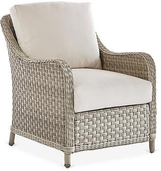 Mayfair Wicker Club Chair - Gray/Canvas - South Sea Rattan