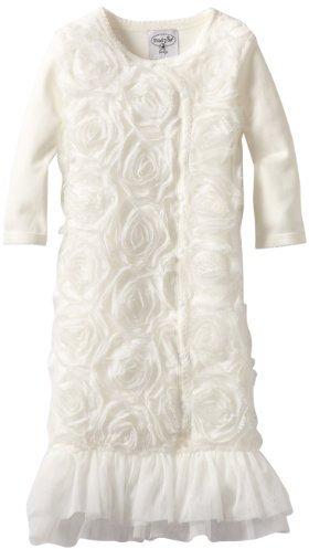 Mud Pie Baby-Girls Newborn Chiffon Sleep Gown
