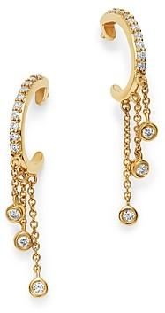 Bloomingdale's Diamond J Hoop Dangle Earrings in 14K Yellow Gold, 0.20 ct. t.w. - 100% Exclusive