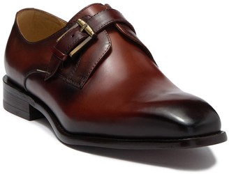 MAISON FORTE Davos Buckle Strap Leather Loafer