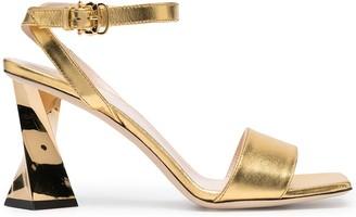 Pollini Twisted Heel Sandals