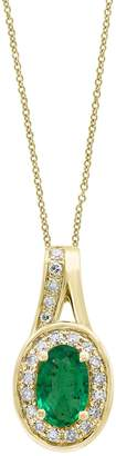 Effy Diamonds, Natural Emerald and 14K Yellow Gold Pendant Necklace