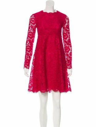 Valentino Lace Mini Dress w/ Tags Magenta