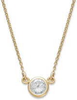 Bezel-Set Diamond Pendant Necklace (1/5 ct. t.w.) in 14K Yellow or White Gold