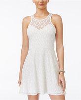Material Girl Juniors' Crochet-Knit Dress