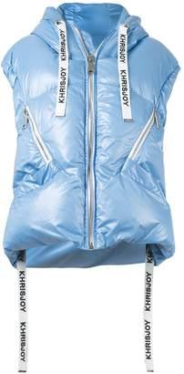 Khrisjoy sleeveless puffer jacket