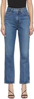 A Gold E AGOLDE Blue Pinch Waist High Rise Kick Jeans