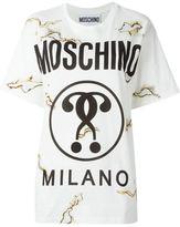 Moschino burned effect logo T-shirt