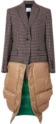 Burberry Tartan Dry Wool Tailored Jacket with Detachable Gilet