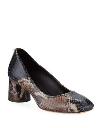 Donald J Pliner Camy Snake-Print Block-Heel Pumps