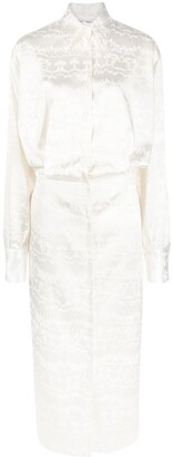 ATTICO Long-Sleeved Maxi Shirt Dress