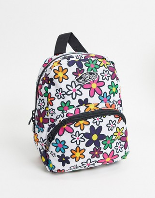 Vans Got This Floral mini backpack in white