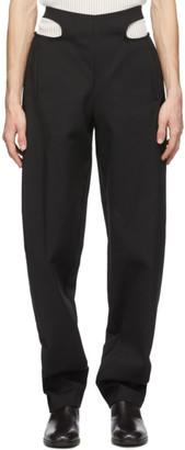 Dion Lee Black Y-Front Tie Pants