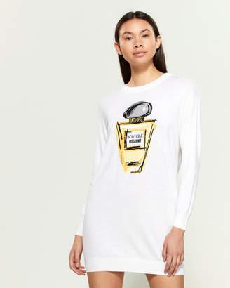 Moschino Perfume Wool-Blend Mini Sweater Dress