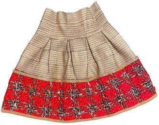 Lm Lulu Gold Skirt for Women