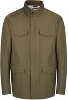 Armani Collezioni Olive Water-repellent Shell Field Jacket