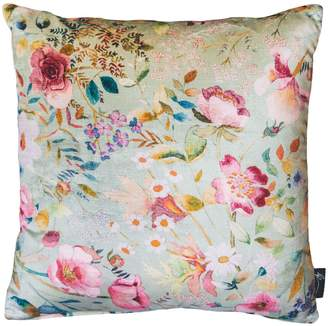 Philip Clay Design English Garden 'Pistachio & Peacock' Velvet Cushion