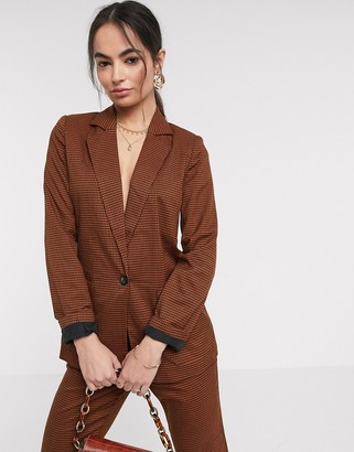 Vila suit blazer in brown