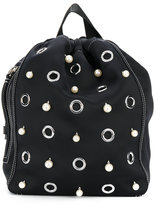 3.1 Phillip Lim faux pearl embellished backpack - women - Cotton/Leather - One Size