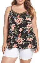 Bobeau Plus Size Women's Tropical Camisole