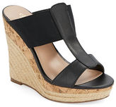 Charles by Charles David Alto Leather & Elastic Espadrille Wedge Sandals