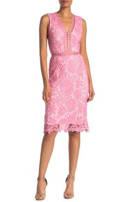 Love by Design Lace & Lattice Midi Dress