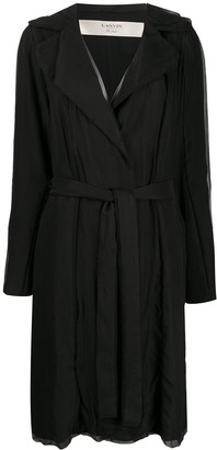 LANVIN Pre-Owned Belted Trench Coat