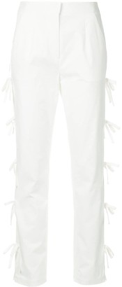 Self-Portrait bow tie lined trousers