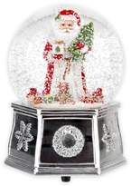 Spode Christmas Tree Santa Musical Snow Globe in Red