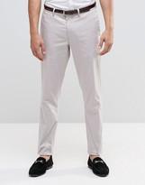 Asos Skinny Smart Chinos In Light Grey