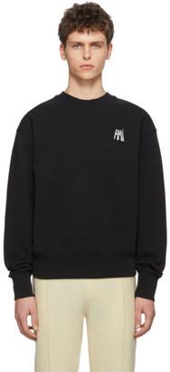 Ami Alexandre Mattiussi Black Embroidered Logo Sweatshirt