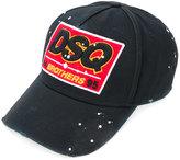 DSQUARED2 DSQ patch baseball cap - men - Cotton - One Size