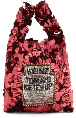 Anya Hindmarch Heinz Ketchup Sequinned Tote - Womens - Red Multi