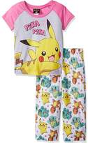 "Pokemon Little Girls' ""Pika Pika!"" 2-Piece Pajamas"