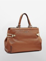 Calvin Klein Pebble Leather Satchel