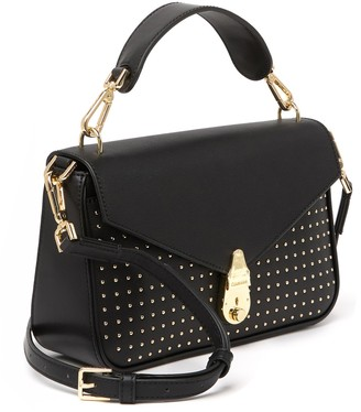 Calvin Klein Daytonna Studded Leather Top Handle Leather Satchel