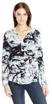 Calvin Klein Jeans Women's Printed Pop Over Blouse