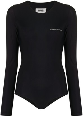 MM6 MAISON MARGIELA Logo Printed Bodysuit