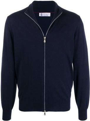 Brunello Cucinelli Front Zip Sweatshirt