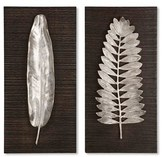 Uttermost 'Silver Leaves' Wall Art