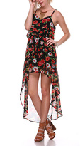 Stanzino Black Floral Hi-Low Dress