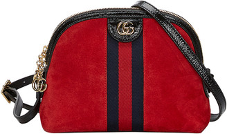 Gucci Red Suede Ophidia Crossbody Bag