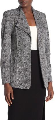 Calvin Klein Drape Collar Print Jacket