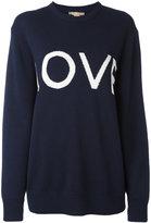 Michael Kors 'love' pattern jumper - women - Cotton/Cashmere - XS