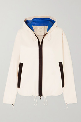 Bottega Veneta Hooded Two-tone Leather Jacket - Ivory